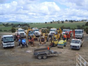 Total Earthworx trucks and machinery